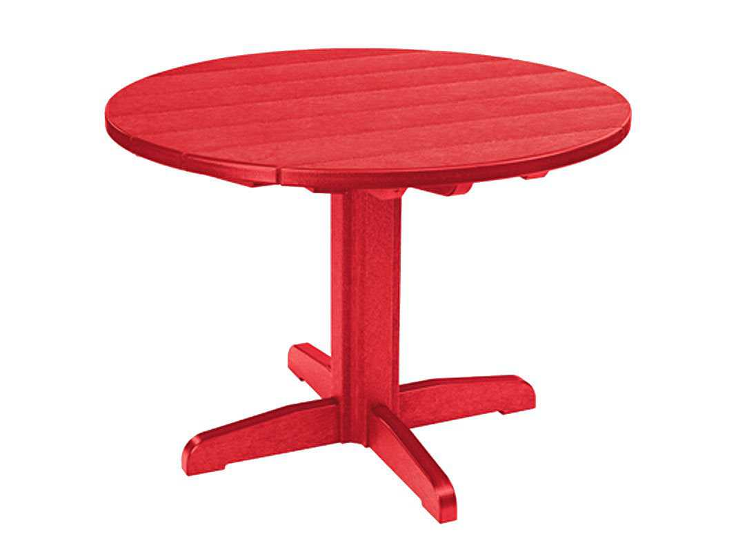 C R Plastic Generation 37 Round Dining Table