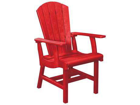 C.R. Plastic Generation Recycled Plastic Arm Dining Adirondack Style Chair