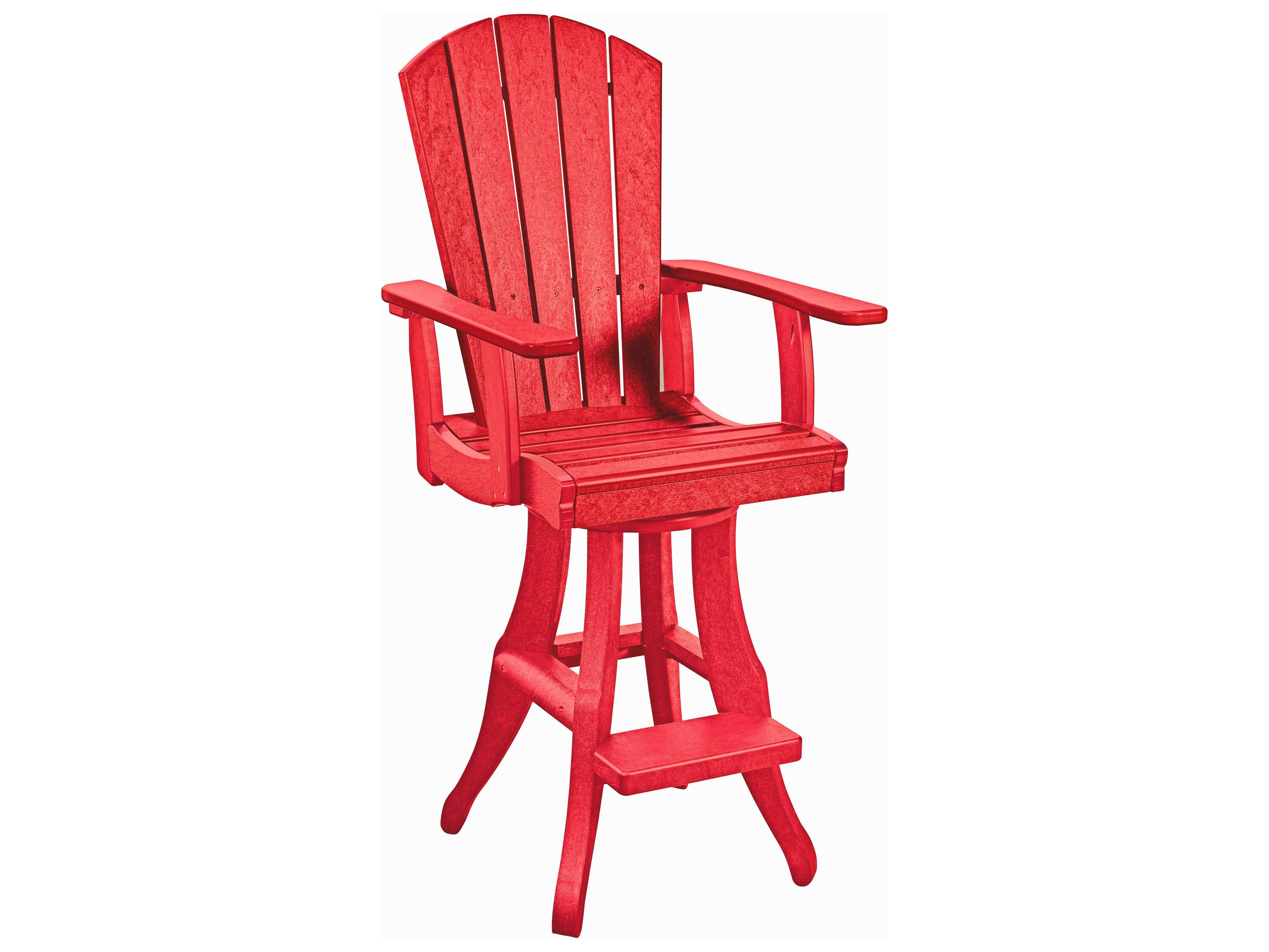 C R Plastic Generation Swivel Arm Pub Chair