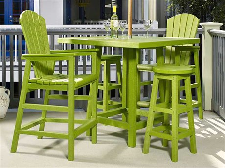 C.R. Plastic Generation Recycled Plastic 4 Person Recycled Plastic Casual Patio Dining Set