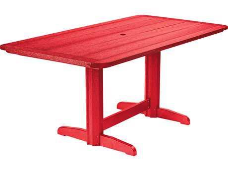 C.R. Plastic Generation 72 x 36 Rectangular Double Pedestal Dining Table