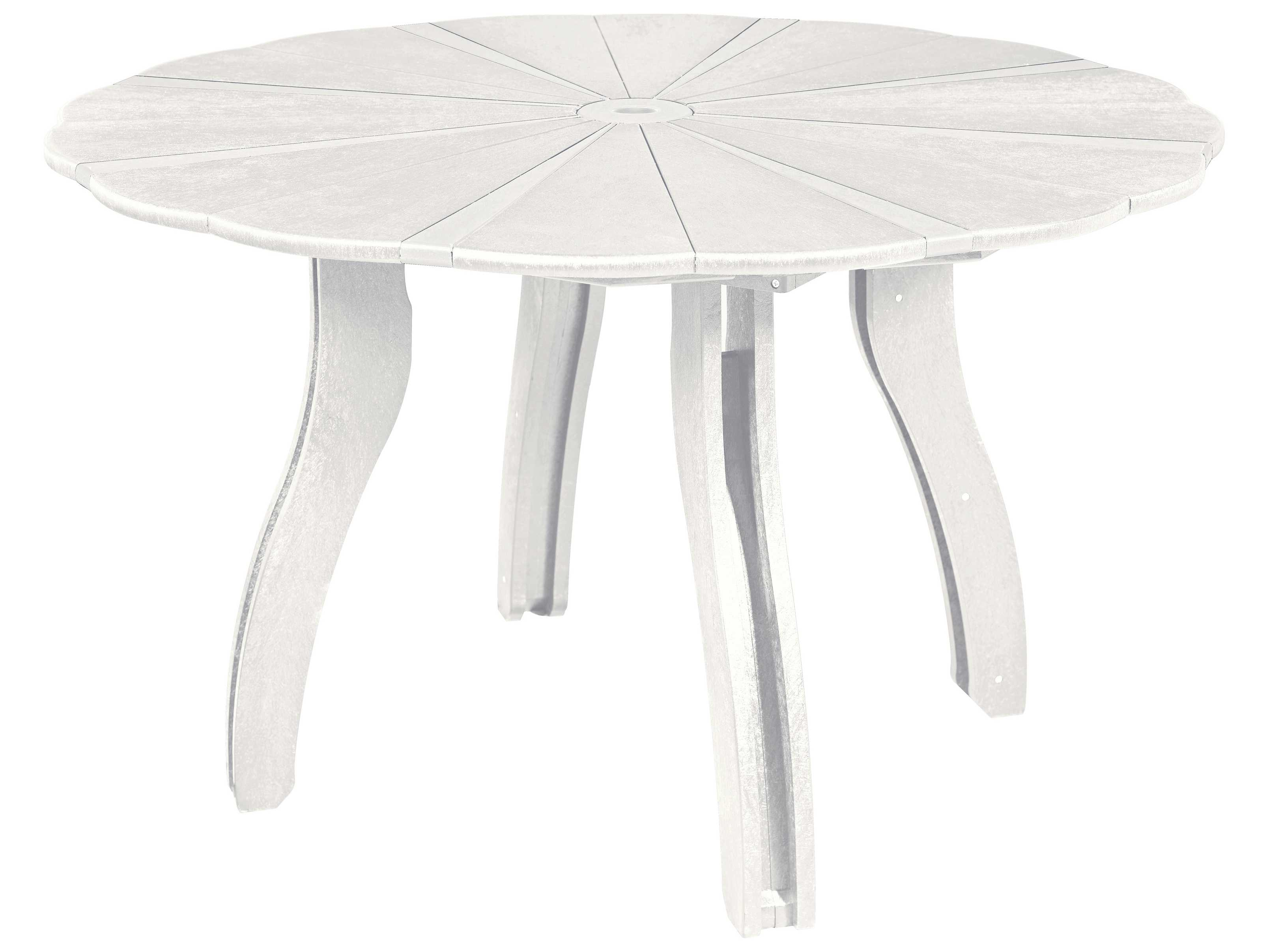 Plastic Generation 52 Scalloped Round Dining Table T12