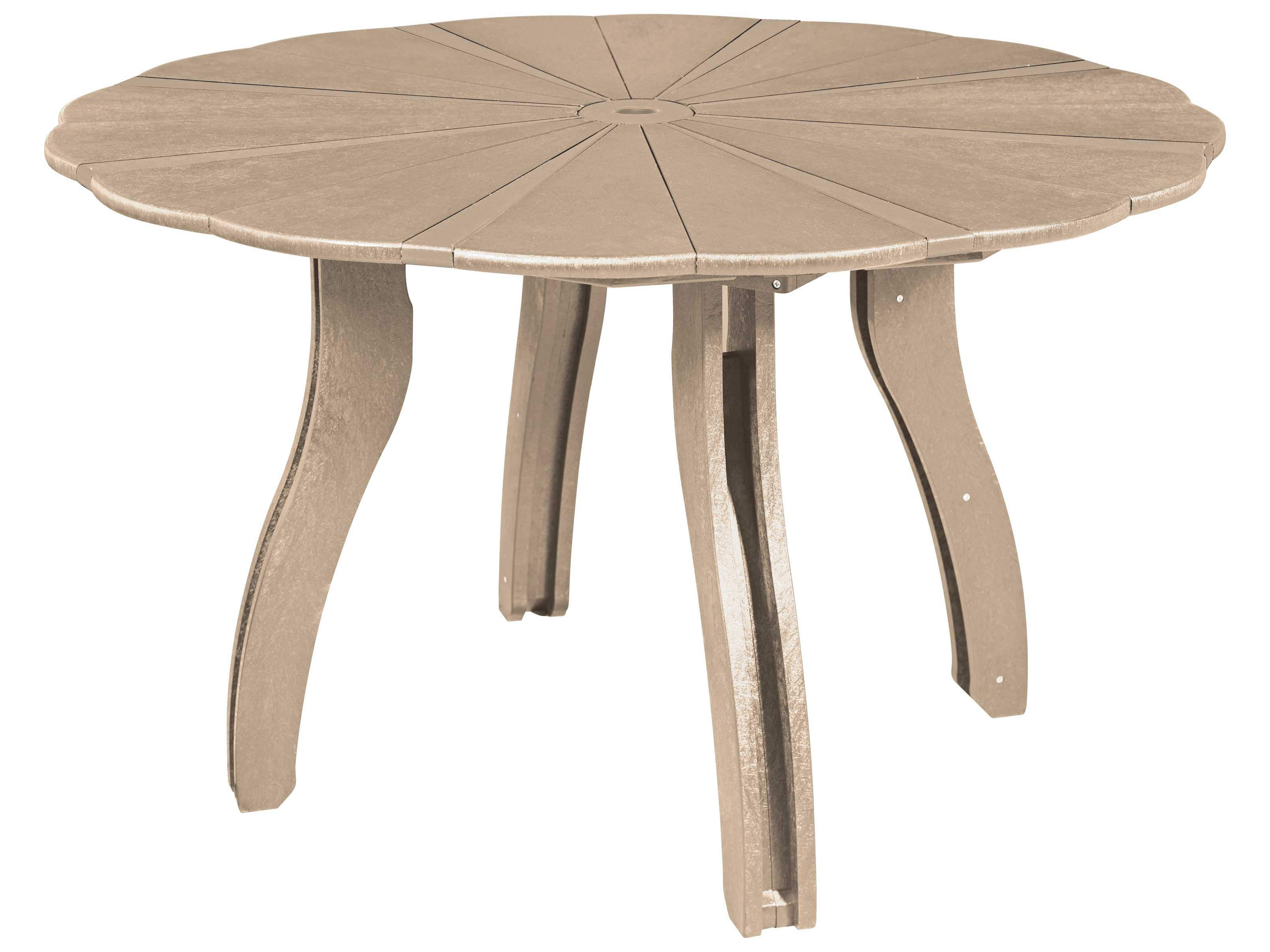 C R Plastic Generation 52 Scalloped Round Dining Table T12