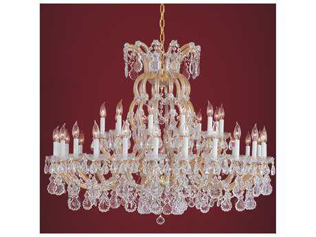Crystorama Maria Theresa Gold 36-Light 48'' Wide Grand Chandelier Clear Hand Cut - 4308-GD-CL-MWP