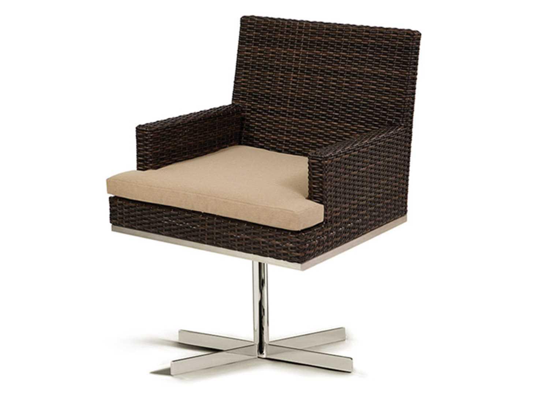 caluco mirabella wicker cushion swivel rocker dining chair