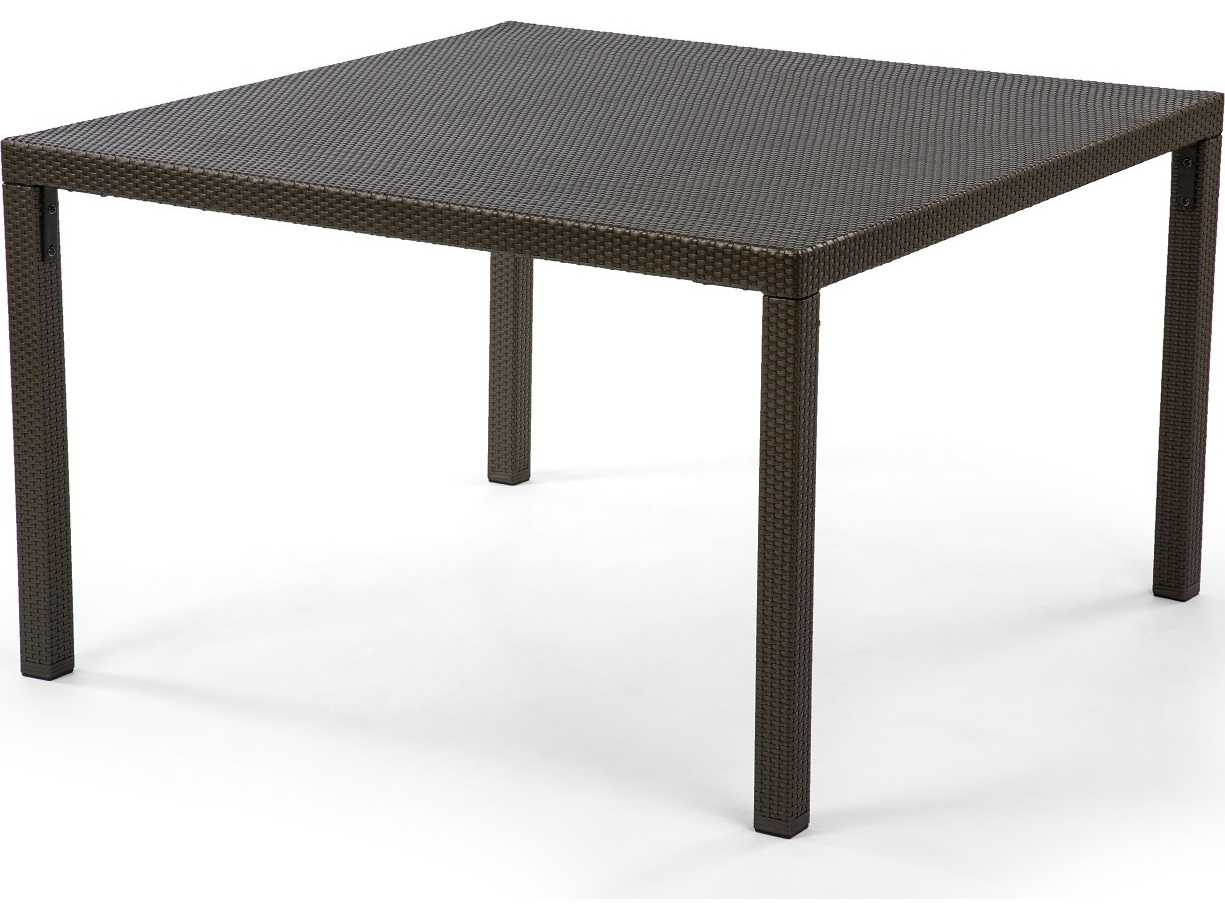 caluco gracia wicker 48 square dining table 990 d48. Black Bedroom Furniture Sets. Home Design Ideas