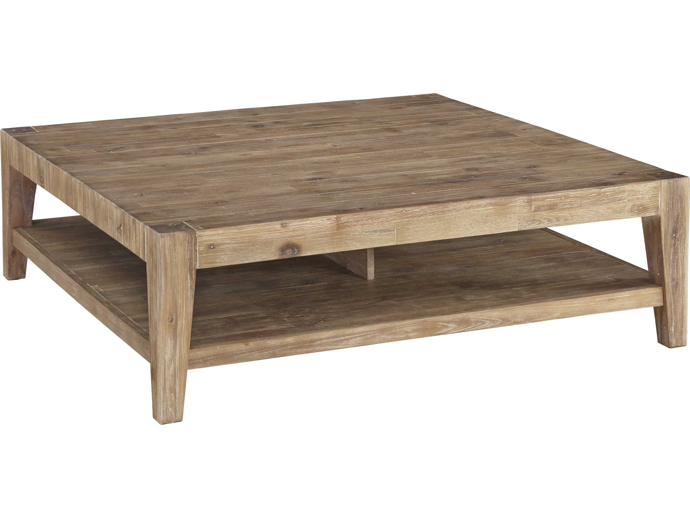 casana tyler weathered acacia 46 u0026 39  u0026 39  square coffee table