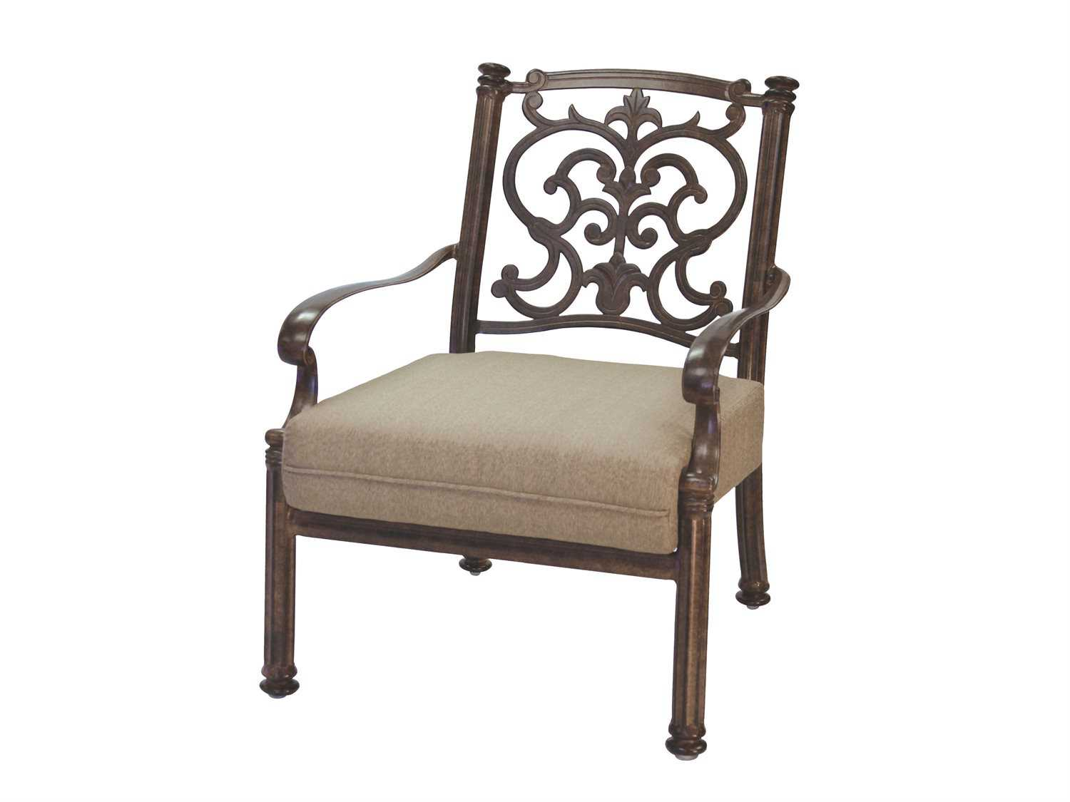 Darlee Outdoor Living Standard Santa Barbara Replacement Dining Chair Seat Cu