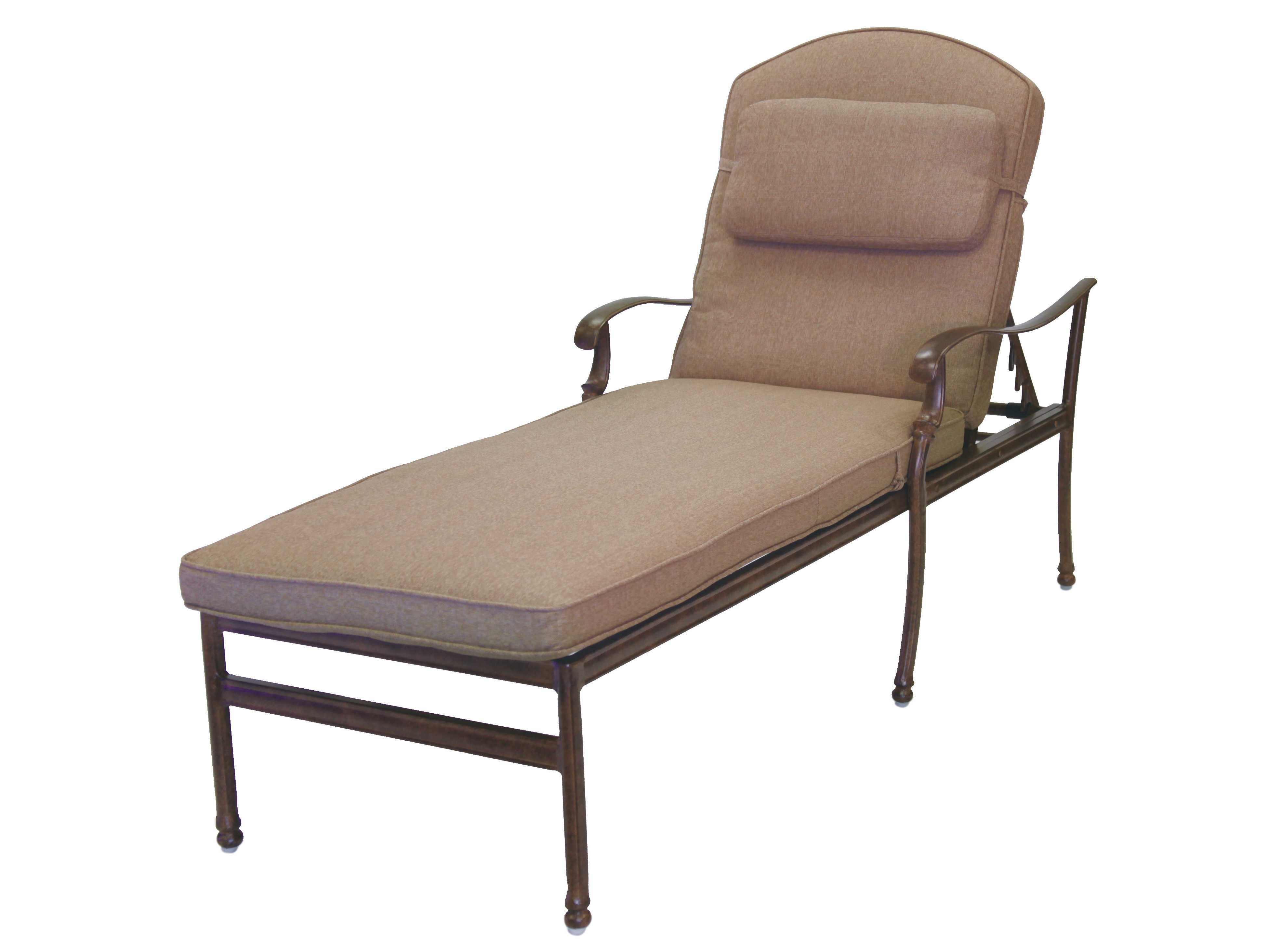 Darlee outdoor living standard florence cast aluminum for Cast aluminum chaise lounge