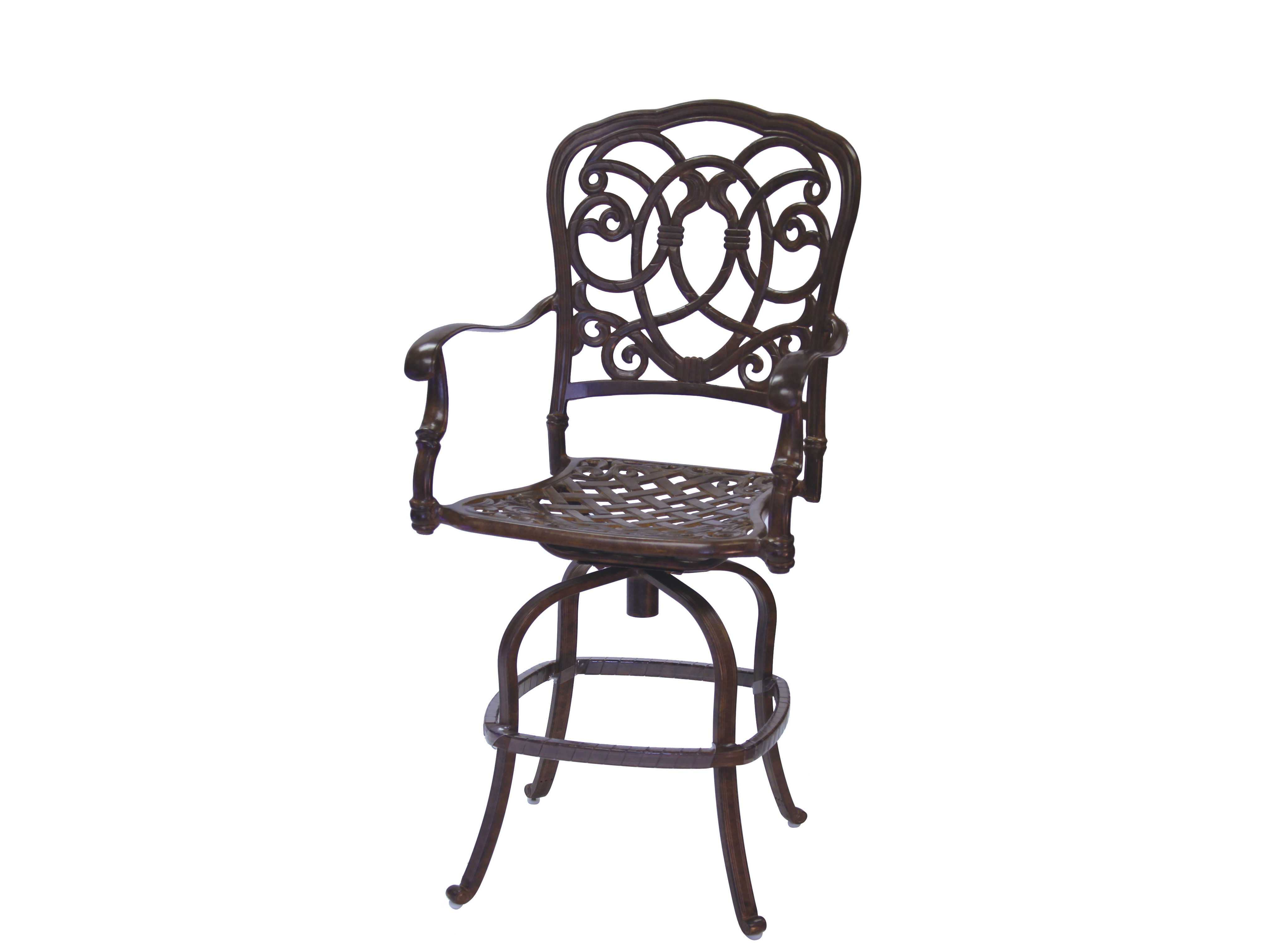 Counter Height Outdoor Dining Sets : Outdoor Living Quick Ship Florence Cast Aluminum Counter Height Set ...