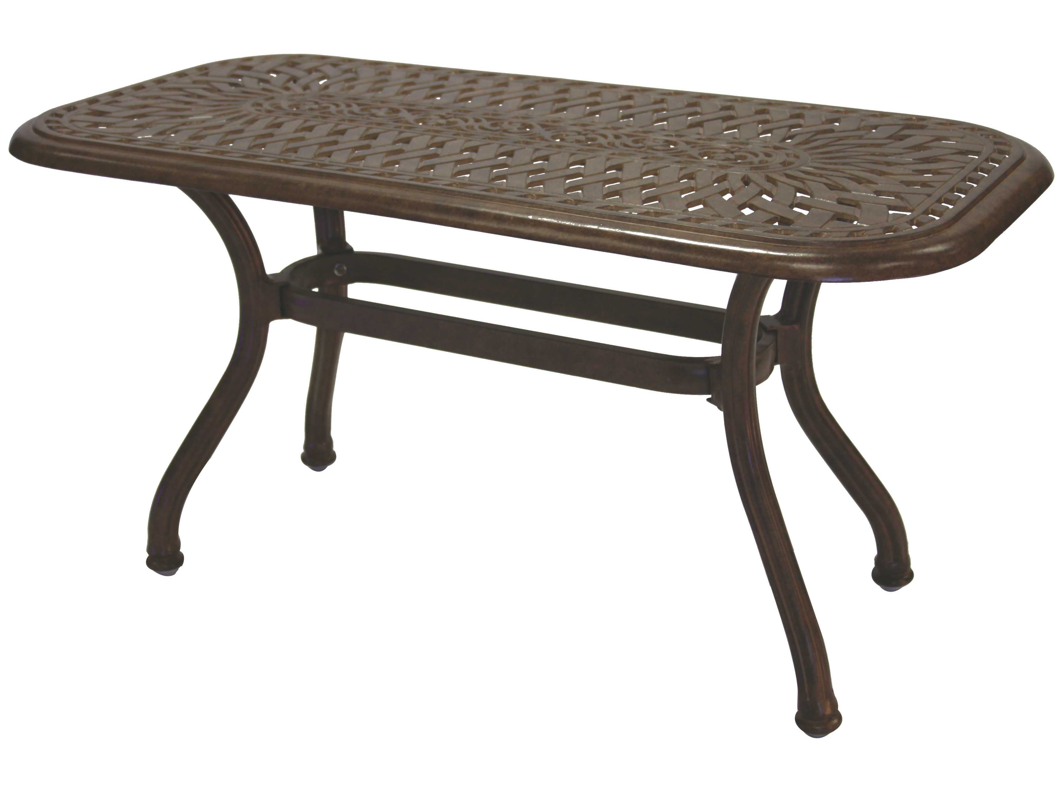 Darlee outdoor living series 60 cast aluminum 42 x 21 for Outdoor coffee table