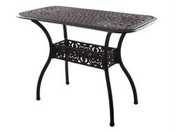 Darlee Outdoor Living Quick Ship Series 60 Cast Aluminum 52 x 26 Rectangular Counter Height ServingTable