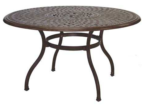 Living Series 60 Cast Aluminum 52 Round Dining Table With Ice Bucket