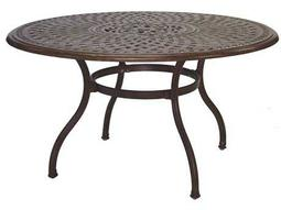 Darlee Outdoor Living Quick Ship Series 60 Cast Aluminum 52 Round Dining Table with Ice Bucket
