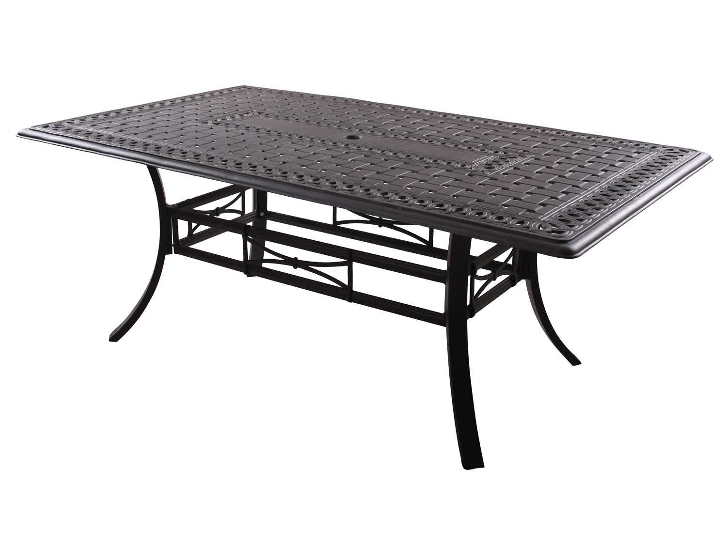 aluminum antique bronze 72 x 42 rectangular dining table 201088 e