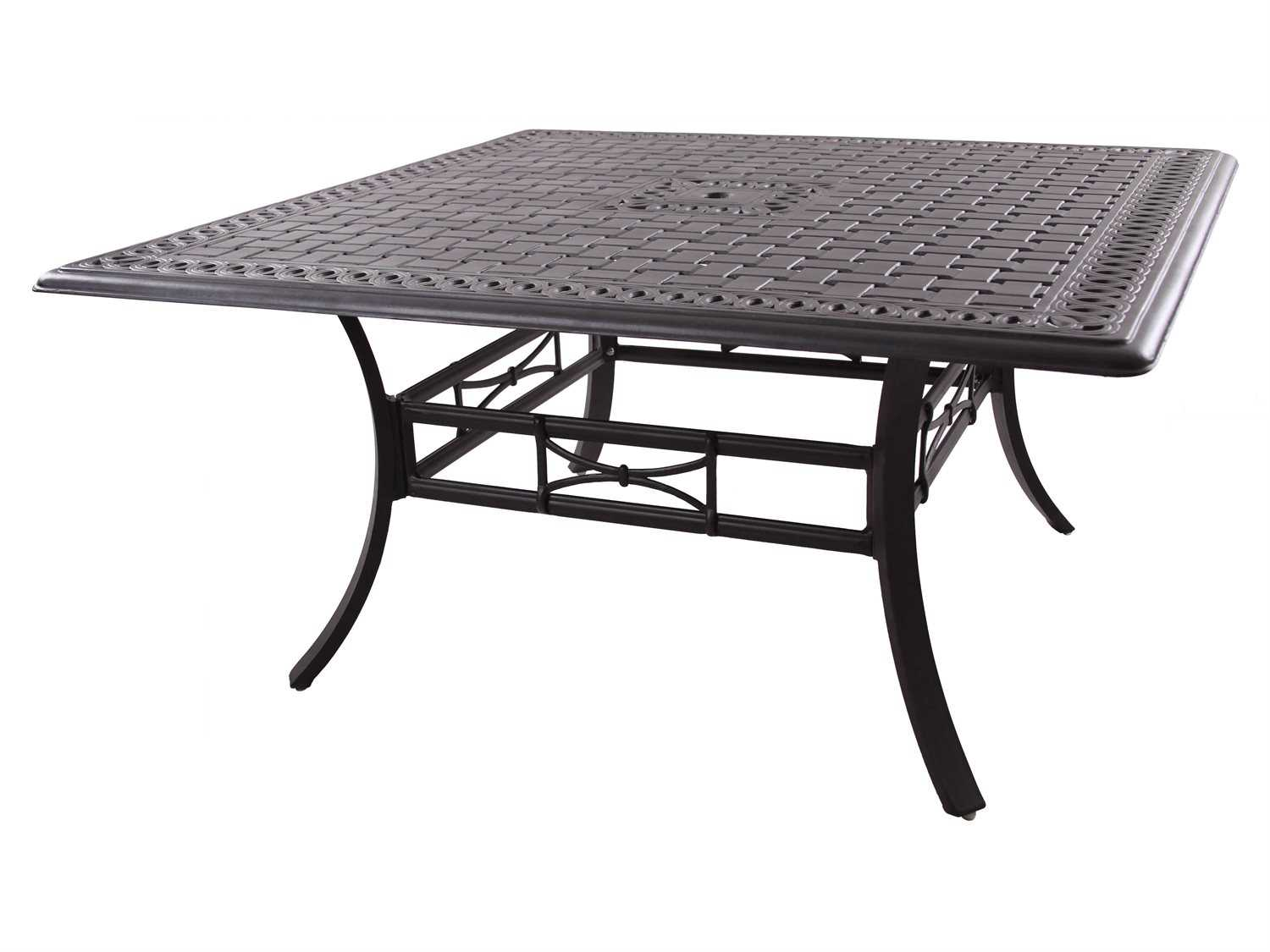 Darlee outdoor living series 88 cast aluminum antique for Square counter height table