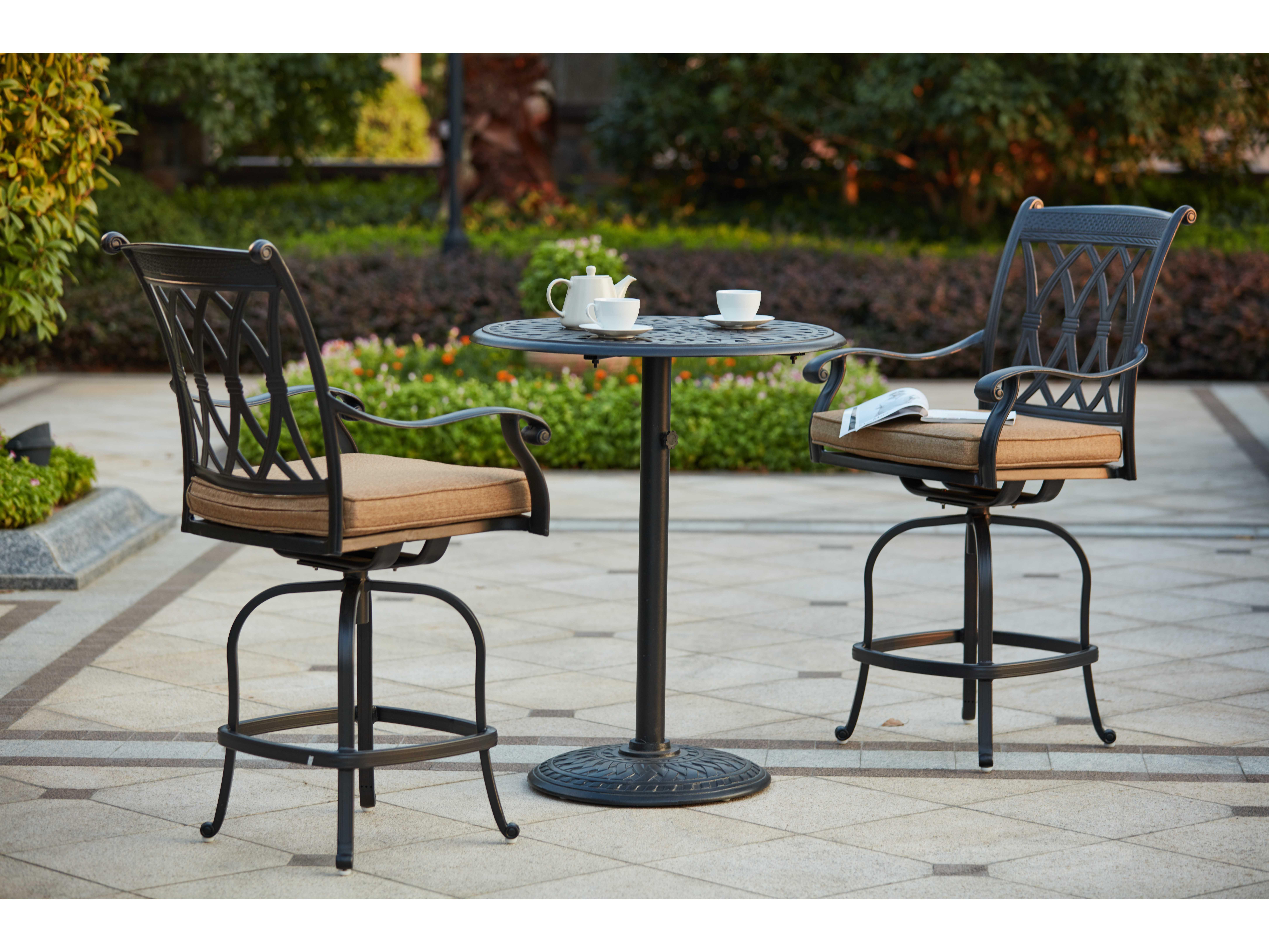 Darlee Outdoor Living Standard Capri Cast Aluminum 3 Piece