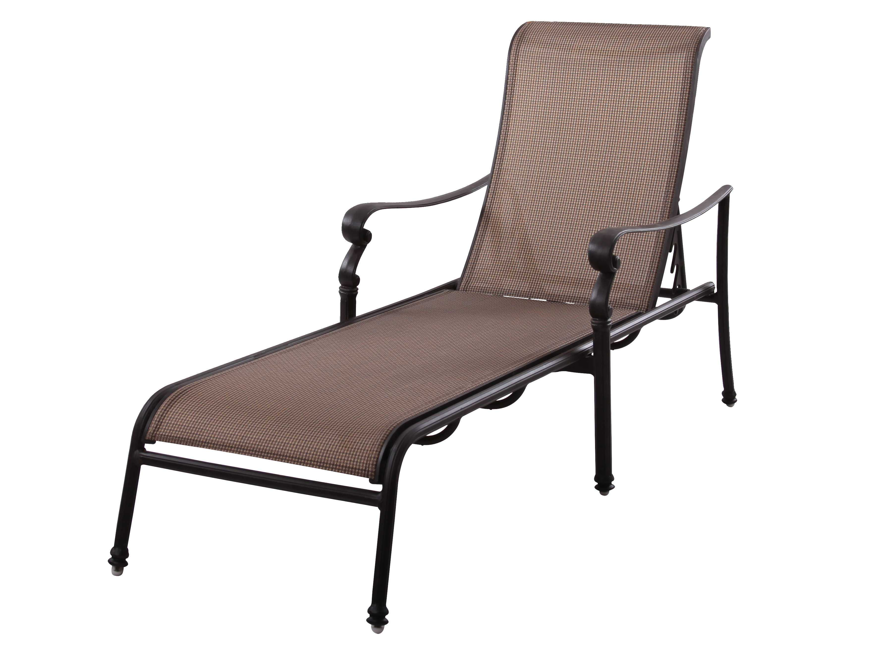 Darlee outdoor living standard monterey cast aluminum for Cast aluminum chaise lounge