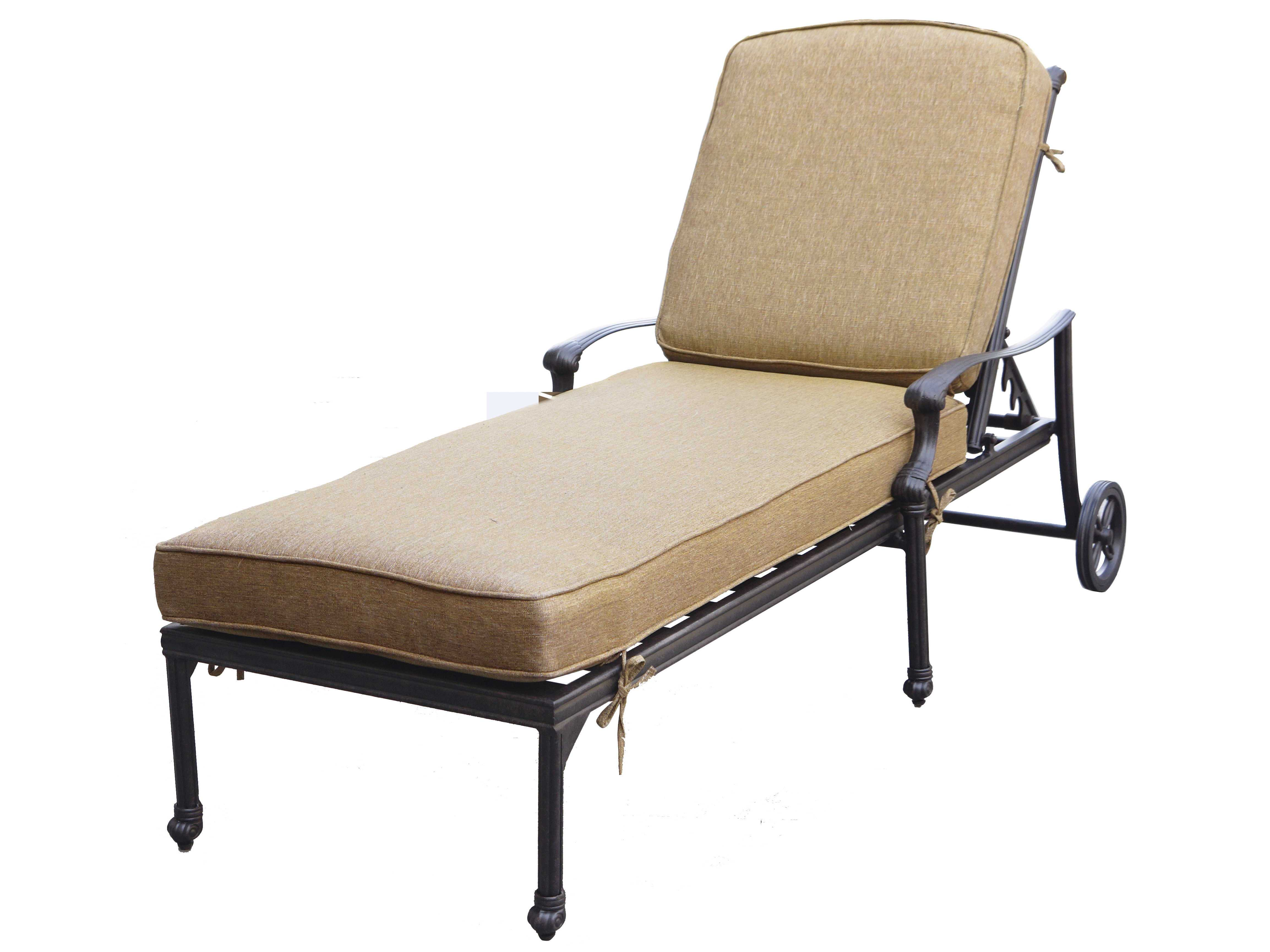 Darlee outdoor living camino cast aluminum antique bronze for Bronze chaise lounge