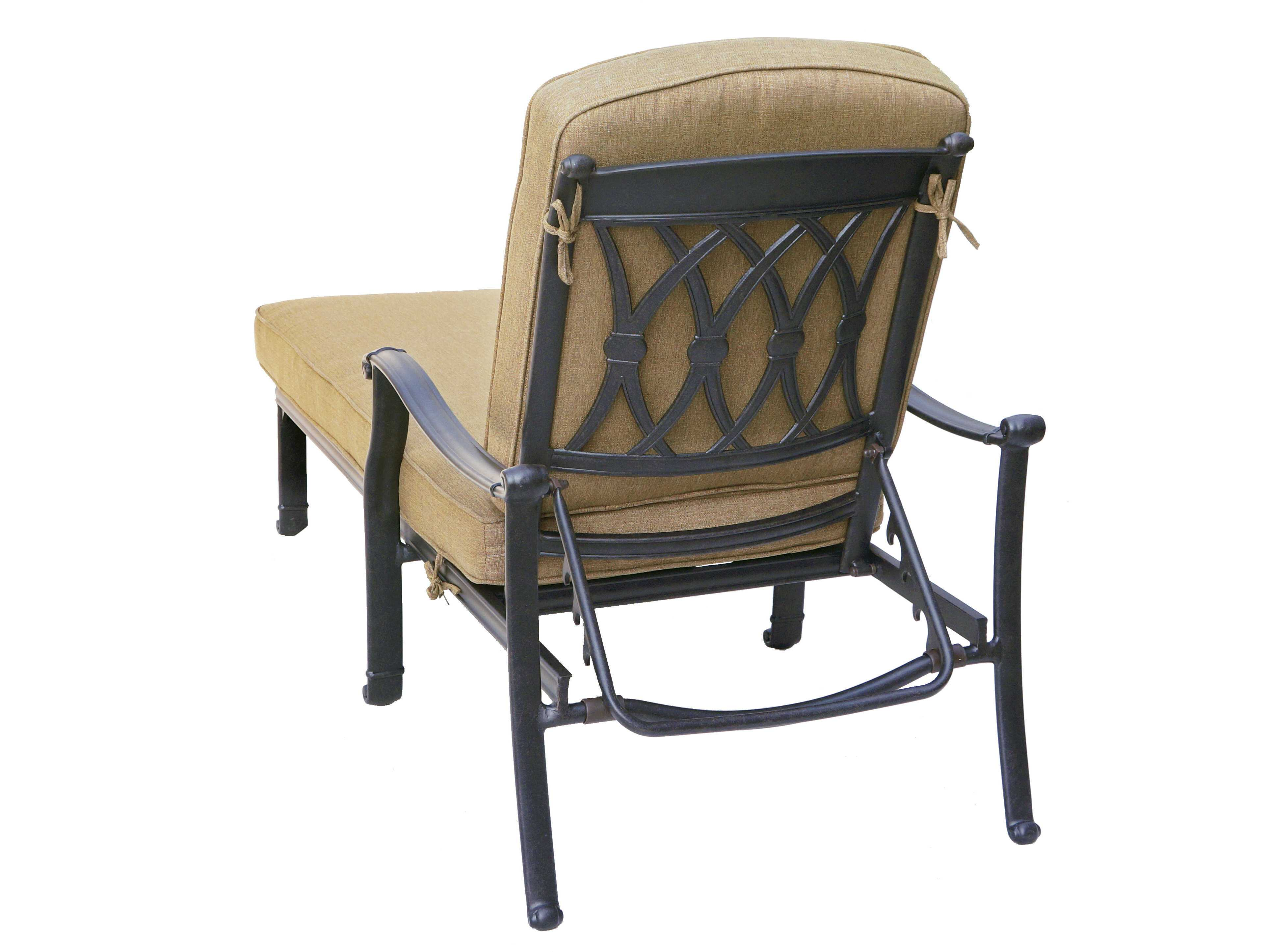 Darlee outdoor living standard san macros cast aluminum for Bronze chaise lounge