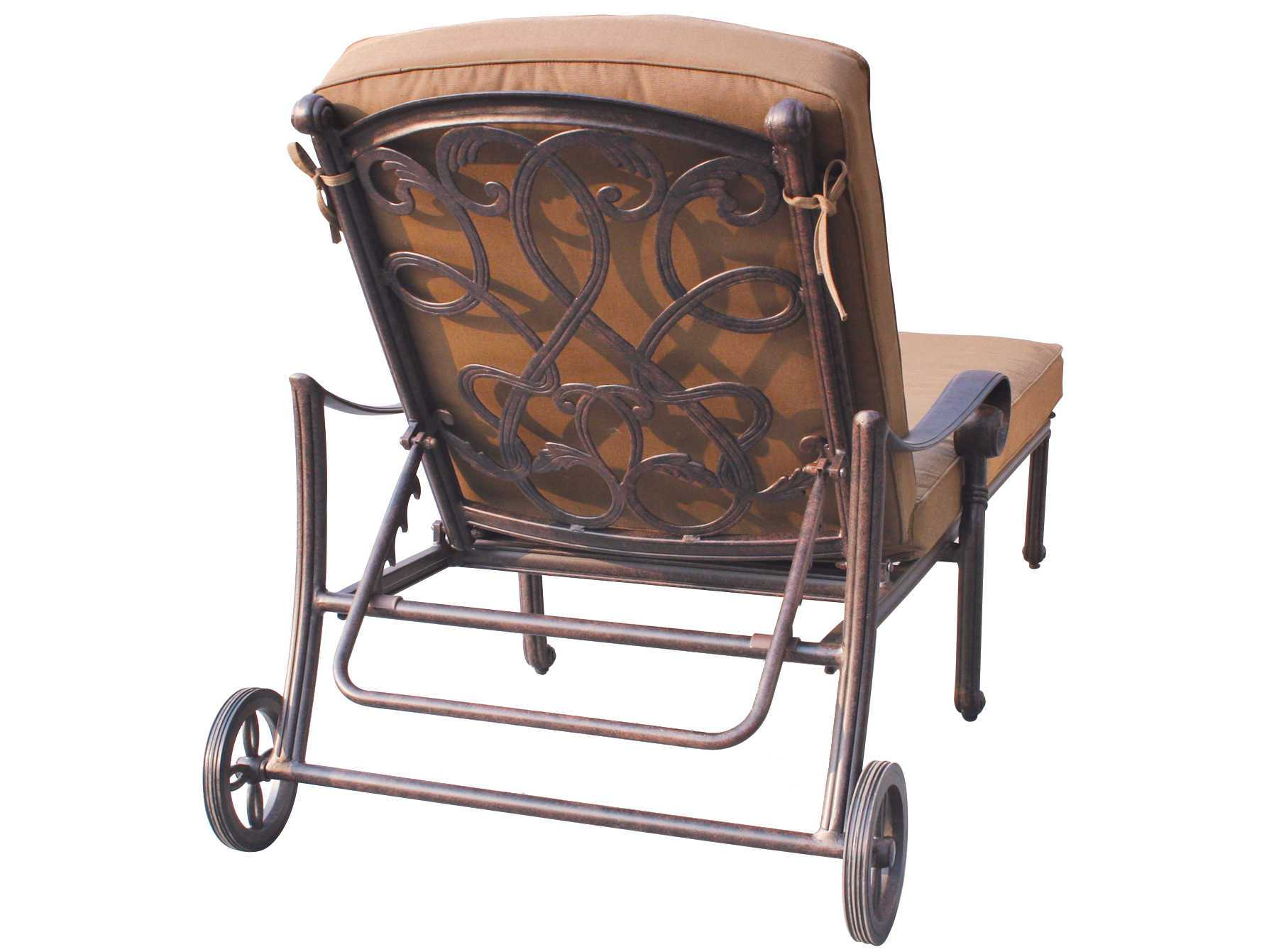 darlee outdoor living standard santa monica cast aluminum antique bronze chaise lounge dl2052 33. Black Bedroom Furniture Sets. Home Design Ideas