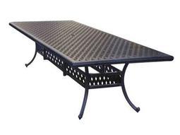 Darlee Outdoor Living Quick Ship Series 30 Cast Aluminum Antique Bronze 120 x 46 Rectangular Dining Table