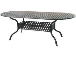 Darlee Outdoor Living Quick Ship Series 30 Cast Aluminum Antique Bronze 84 x 42 Oval Dining Table