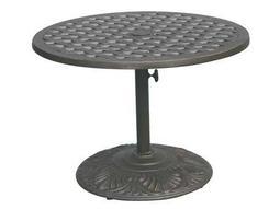 Darlee Outdoor Living Quick Ship Series 30 Cast Aluminum Antique Bronze 30 Round Pedestal Tea Table