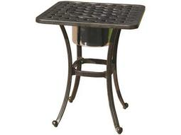 Darlee Outdoor Living Quick Ship Series 30 Cas -Aluminum Antique Bronze 21 Square End Table with Ice Bucket