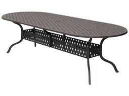 Darlee Outdoor Living Quick Ship Series 30 Cast-Aluminum Antique Bronze 102 x 42 Oval Dining Table