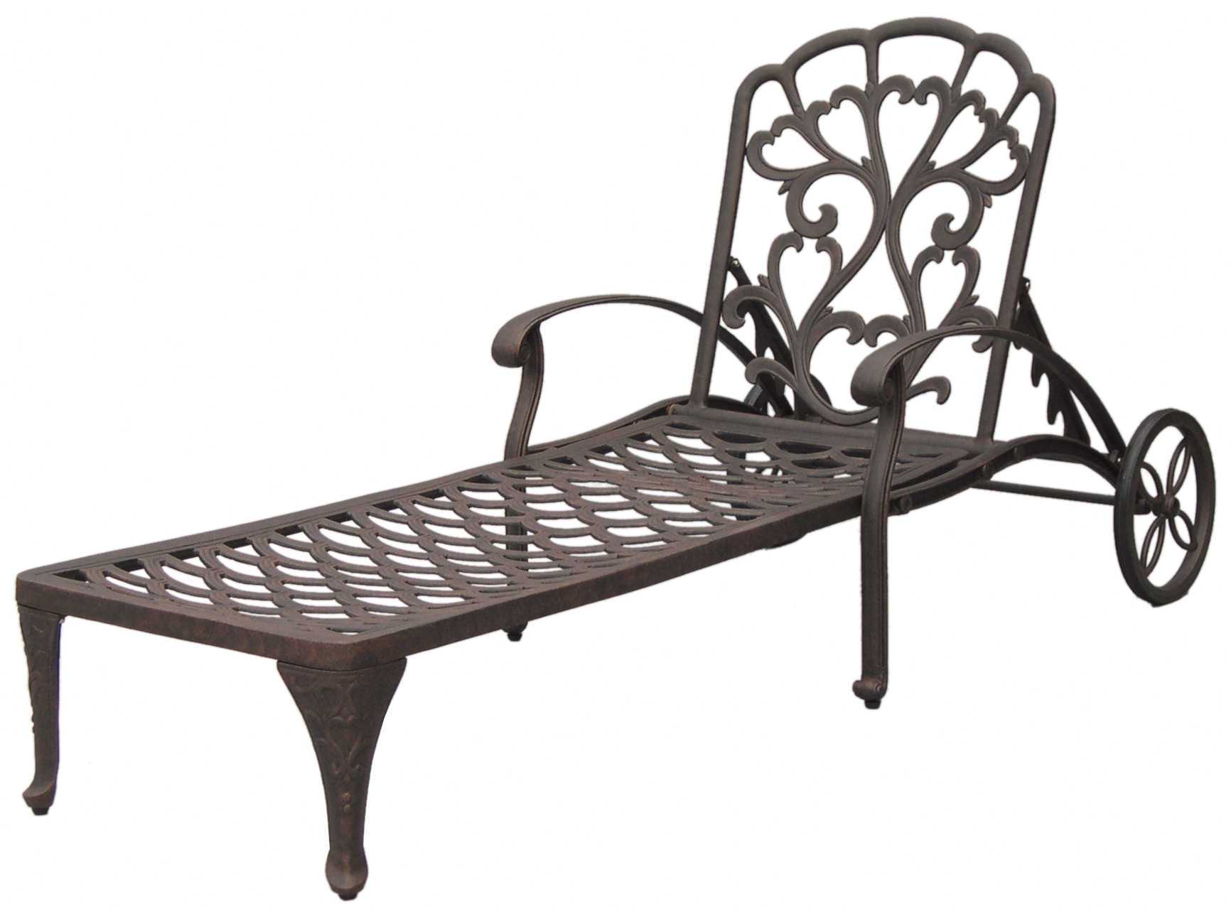 Darlee outdoor living quick ship catalina cast aluminum for Cast aluminum chaise