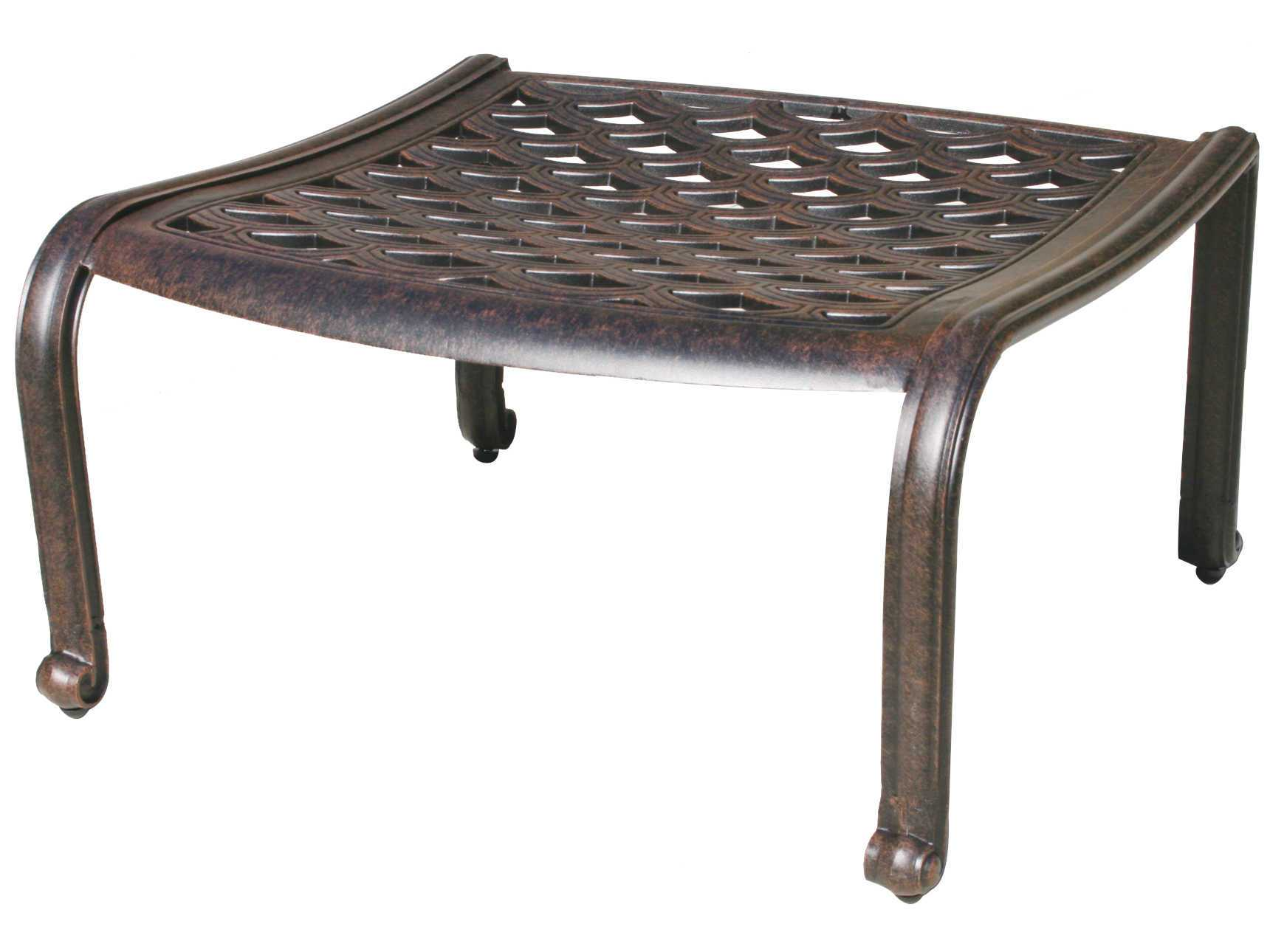 Wonderful image of Darlee Outdoor Living Catalina Cast Aluminum Ottoman DL806 11 with #695950 color and 1720x1290 pixels