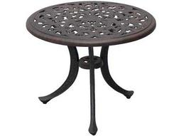 Darlee Outdoor Living Quick Ship Series 80 Cast Aluminum Antique Bronze 21 Round End Table