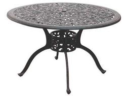 Darlee Outdoor Living Quick Ship Series 80 Cast Aluminum Antique Bronze 48 Round Dining Table