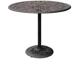 Darlee Outdoor Living Quick Ship Series 80 Cast Aluminum Antique Bronze 42 Round Bar Table