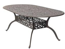 Darlee Outdoor Living Quick Ship Series 80 Cast Aluminum Antique Bronze 84 x 42 Oval Dining Table