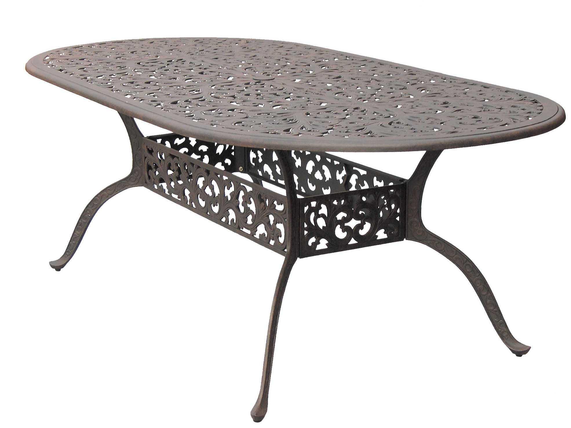 80 Cast Aluminum Antique Bronze 84 X 42 Oval Dining Table DL80 L