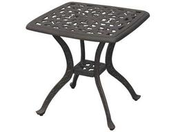 Darlee Outdoor Living Quick Ship Series 80 Cast Aluminum Antique Bronze 21 Square End Table