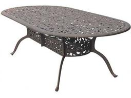 Darlee Outdoor Living Quick Ship Series 80 Cast Aluminum Antique Bronze 96 x 48 Oval Dining Table