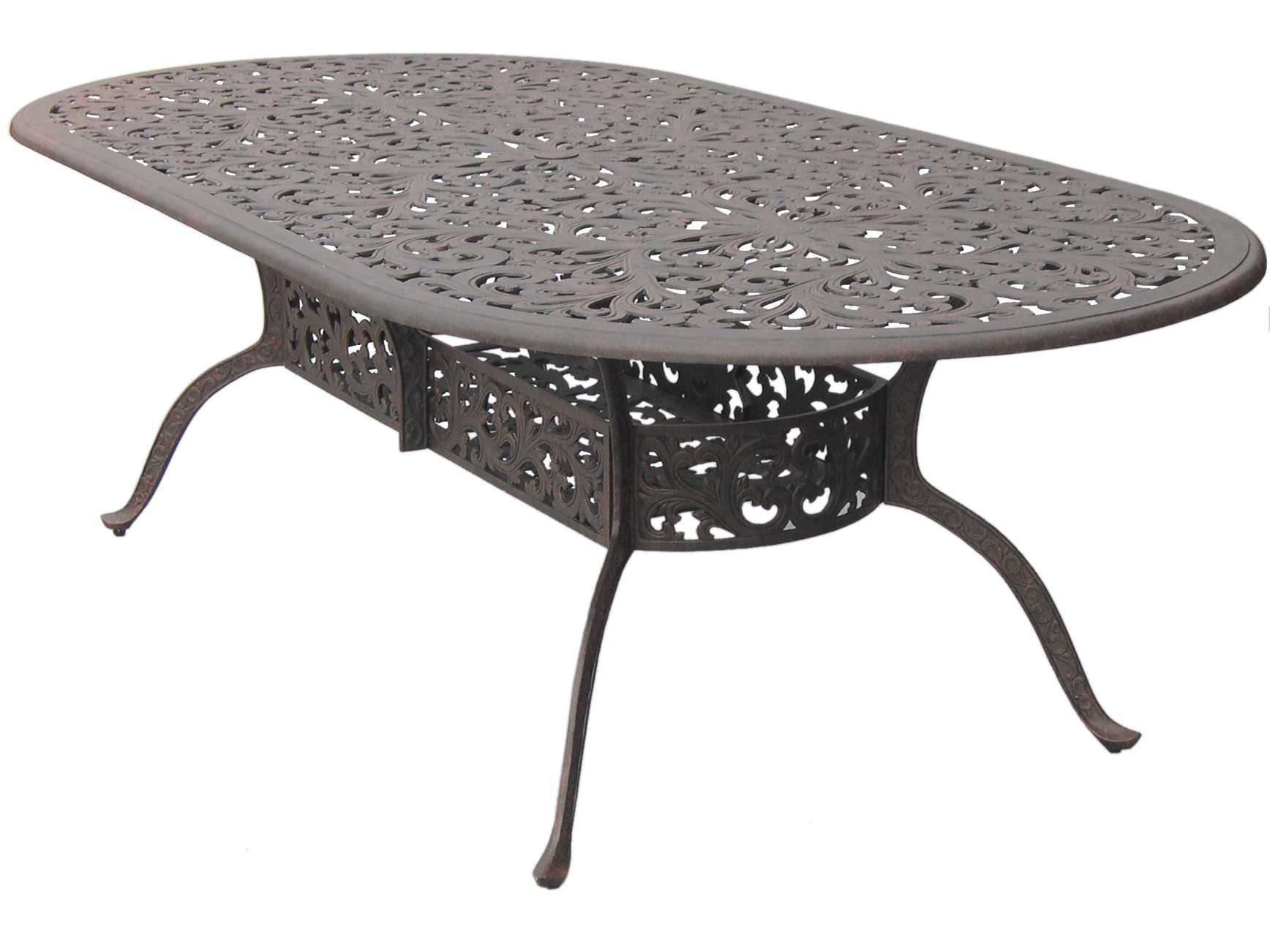 Ship Series 80 Cast Aluminum Antique Bronze 96 X 48 Oval Dining Table
