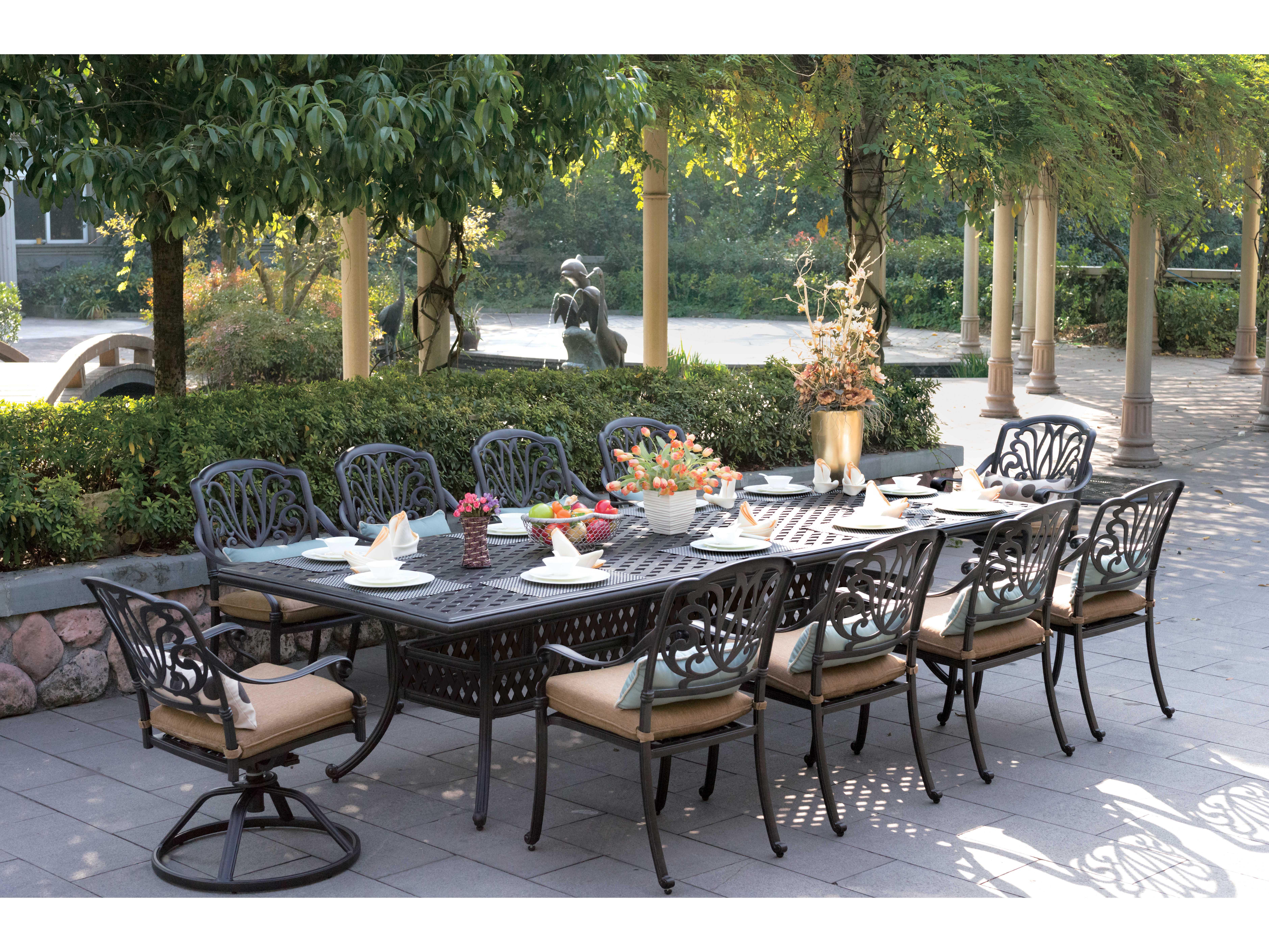 Darlee Outdoor Living Standard Elisabeth Cast Aluminum Dining Set