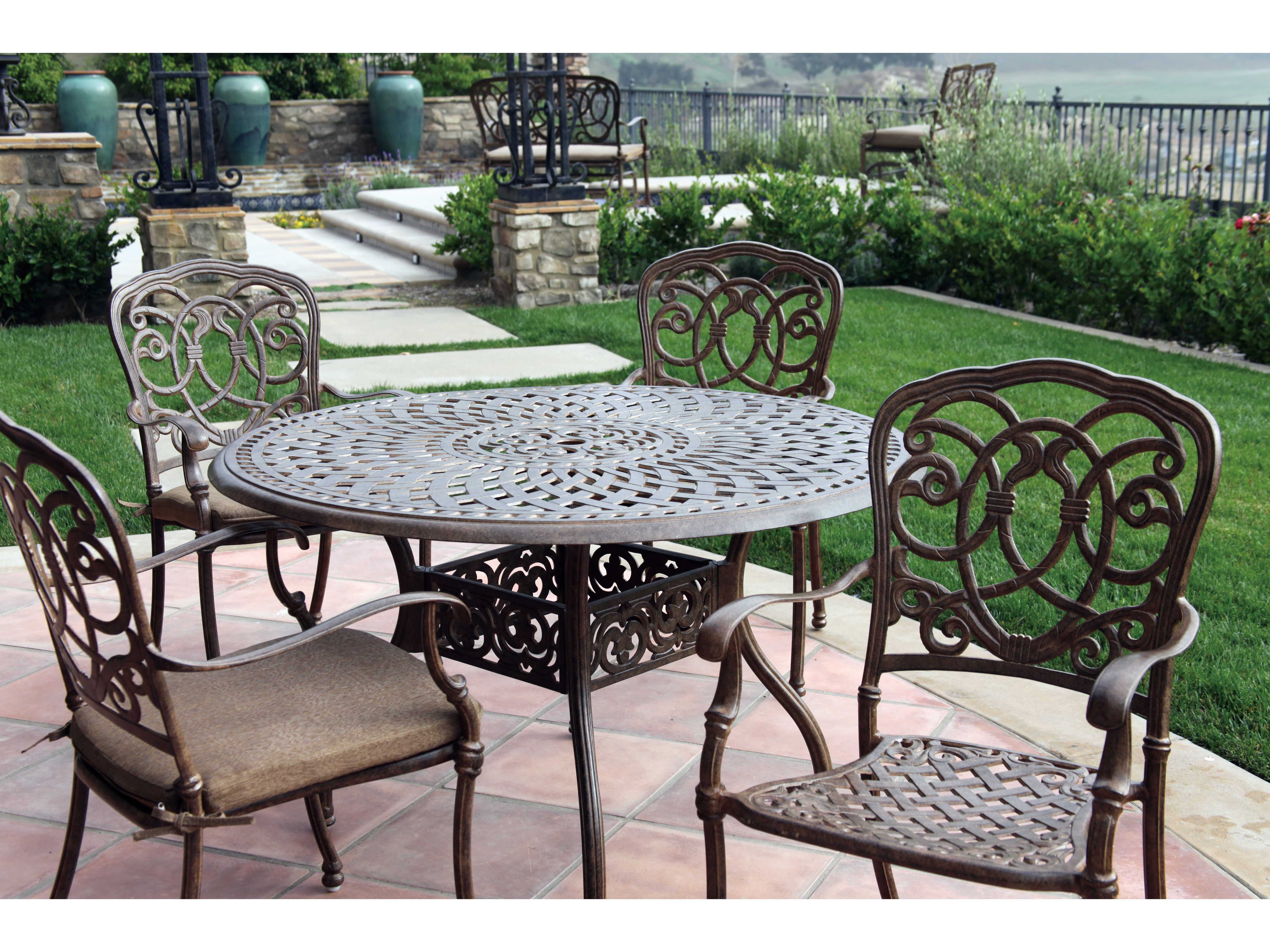 Darlee Outdoor Living Series 60 Cast Aluminum 48 Round Dining Table 201060 C