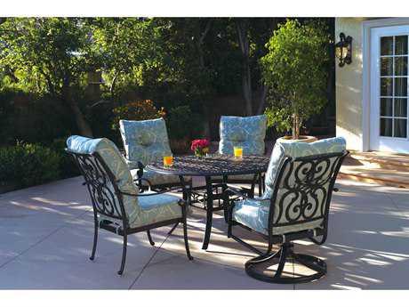 Darlee Santa Anita Cast Aluminum 4 Person Cushion Casual Patio Dining Set