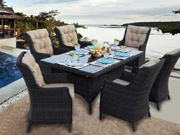 Darlee Outdoor Living Quick Ship Valencia Wicker Dining Set