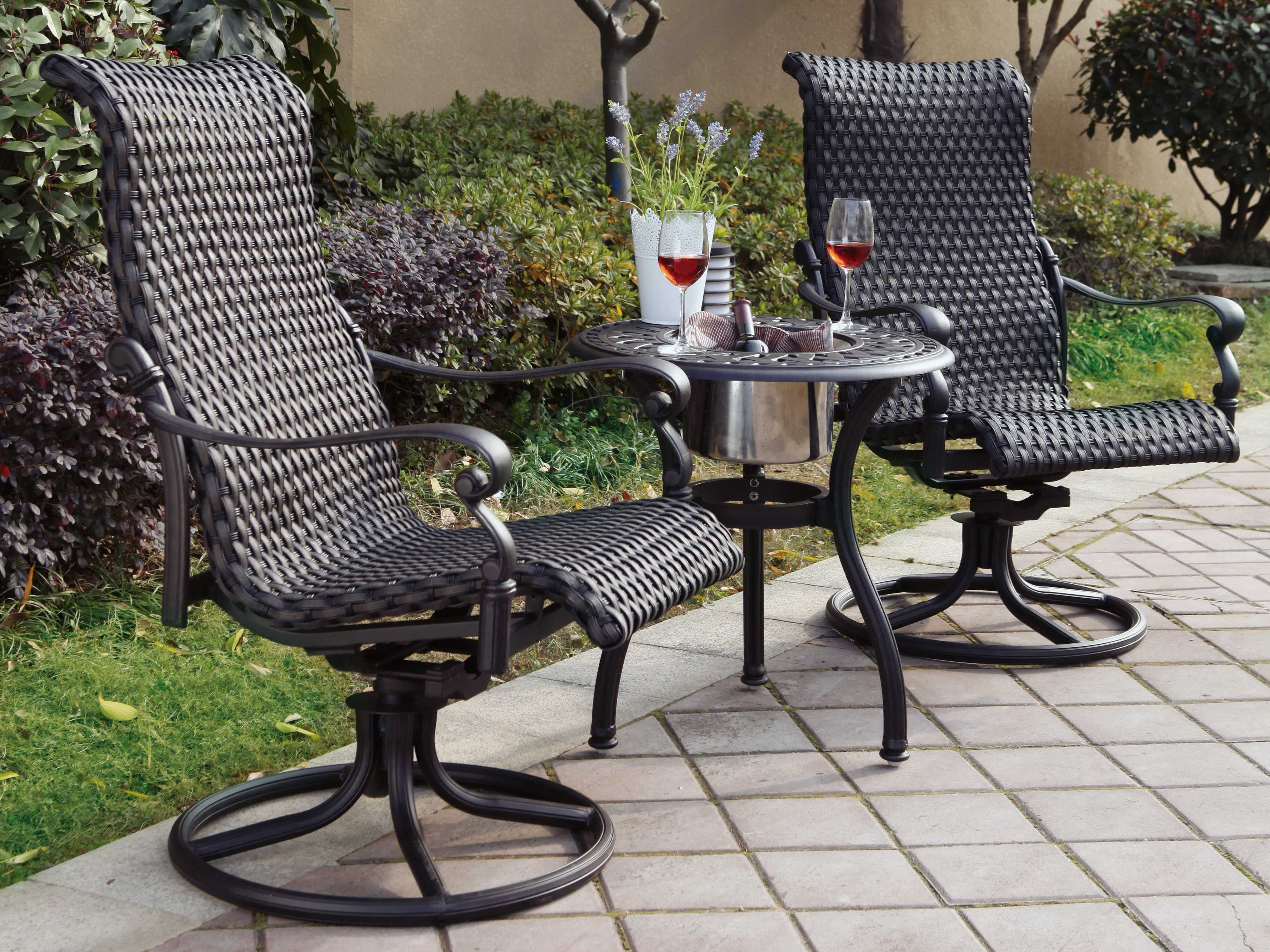 Patio Chairs Set Of 6: Darlee Outdoor Living Standard Victoria Wicker Espresso