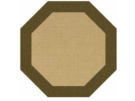 Dalyn Sierra Sisal Transitional Custom Machine Made Wool Animals/Animal Print Octagon 4' Area Rug - SR