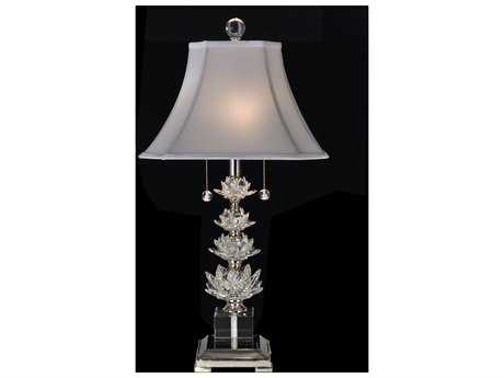 Dale Tiffany Polished Nickel Crystal Springs Table Lamp