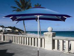 Dayva Patricia 10' Square Aluminum Pulley Umbrella