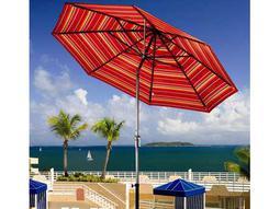 Dayva Aluminum Market Monterey 9 Feet Wide Crank Lift Auto Tilt Patio Umbrella