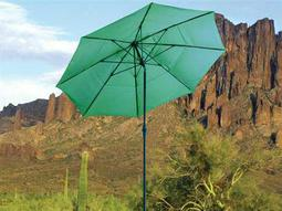 Dayva Aluminum Market Monterey Deluxe 11 Feet Wide Crank Lift Collar Tilt Patio Umbrella